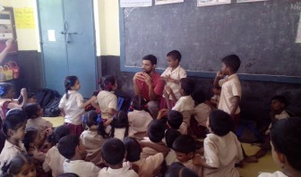 Workshop at school in Pulianthope, Chennai
