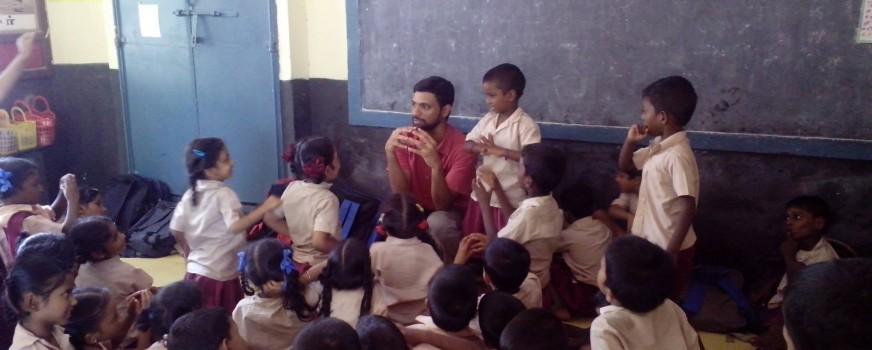 Workshop at school in Pulianthope, Chennai