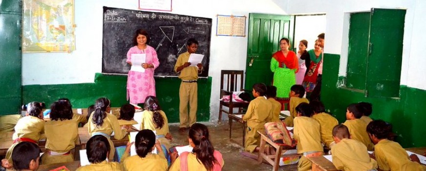 Gender Equality workshop with fourth graders at a government school in suburban Lucknow