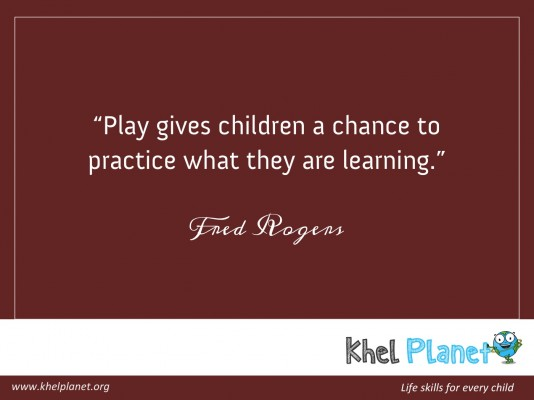 Play gives children a chance to practice what they are learning. - Fred Rogers